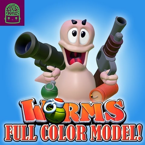 WORMS Classic Game – Full Color Model